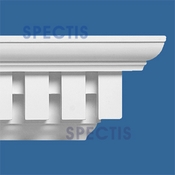 "Spectis Crown Moulding Dentil Trim MD1089 or MD 1089 Moulding - 5 3/8""P X 8 1/8""H X 12'0""L"