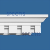 "Spectis Crown Moulding Dentil Trim MD1125 or MD 1125 Moulding - 3 1/2""P X 4""H X 12'0""L"