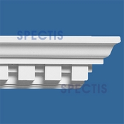 "Spectis Crown Moulding Dentil Trim MD1218 or MD 1218 Moulding - 3 1/8""P X 4""H X 12'0""L"