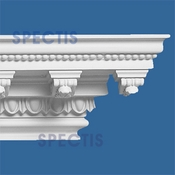 "Spectis Crown Moulding Dentil Trim MD1245 or MD 1245 Moulding - 7 3/16""P X 6 3/8""H X 11' 6 3/4""L"