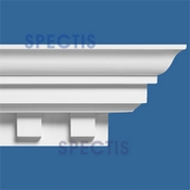 "Spectis Crown Moulding Dentil Trim MD1266 or MD 1266 Moulding - 10""P X 13""H X 11'9""L"