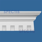 "Spectis Crown Moulding Dentil Trim MD1333 or MD 1333 Moulding - 5""P X 7""H X 7' 11""L"