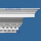 "Spectis Crown Moulding Dentil Trim MD1484 or MD 1484 Moulding - 36""P X 36""H X 12'0""L"