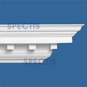 "Spectis Crown Moulding Dentil Trim MD1515 or MD 1515 Moulding - 7 1/2""P X 7 1/2""H X 12'0""L"