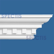"Spectis Crown Moulding Dentil Trim MD1517 or MD 1517 Moulding - 16""P X 18""H X 11'7""L"