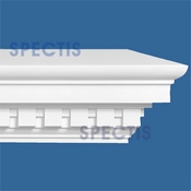 "Spectis Crown Moulding Dentil Trim MD1580 or MD 1580 Moulding - 10 3/4""P X 19 1/2""H X 12'0""L"