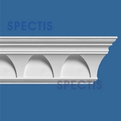 "Spectis Crown Moulding Trim MD1100 or MD 1100 Moulding - 2 7/8""P X 5 1/4""H X 12'0""L"