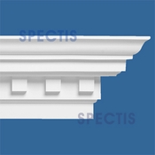 "Spectis Crown Moulding Trim with Dentil MD1003 - 11 5/16""P X 17 3/4""H X 12'0""L"