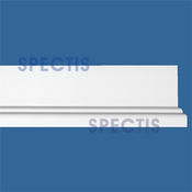 "Spectis Moulding Base Cap Trim MD1591 or MD 1591 Moulding - 7/8""P X 3 1/8""H X 12'0""L"
