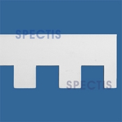 "Spectis Moulding Dentil Trim MD1058 or MD 1058 Moulding - 1 3/8""P X 6""H X 12'0""L"