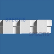 "Spectis Moulding Dentil Trim MD1105 or MD 1105 Moulding - 1 1/2""P X 3""H X 12'0""L"