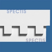 "Spectis Moulding Dentil Trim MD1274 or MD 1274 Moulding - 1 1/2""P X 9 1/2""H X 12'0""L"