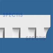 "Spectis Moulding Dentil Trim MD1287 or MD 1287 Moulding - 1 1/8""P X 4 1/2""H X 12'0""L"