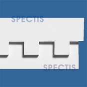 "Spectis Moulding Dentil Trim MD1289 or MD 1289 Moulding - 1 1/2""P X 7""H X 12'0""L"