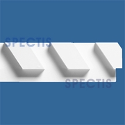 "Spectis Moulding Dentil Trim MD1314-L-8 1/2 -2 1/4""PX7 1/2""HX11'0""L-8/12 LEFT Pitch"