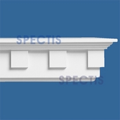 "Spectis Moulding Dentil Trim MD1408 or MD 1408 Moulding - 4 1/2""P X 8""H X 12'0""L"