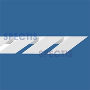 "Spectis Moulding Dentil Trim MD1446 or MD 1446 Straight Moulding - 3""P X 6 15/16""H X 4' 2""L"
