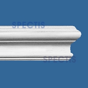"Spectis Moulding Smooth Chail Rail MD1201SB - 1""P X 2 1/16""H X 8' 0""L"