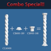 Rope Column Combo with Cap and Base