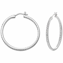 Swarovski Somerset Medium Hoop Pierced Earrings