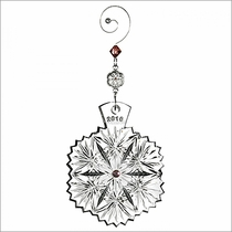 2016 Waterford Crystal Snowflake Wishes Serenity Christmas Ornament