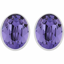 Swarovski Bis Pierced Earrings purple