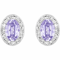 Swarovski Christie Pierced Earrings lavender