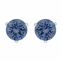Swarovski Solitaire Pierced Earrings  bright blue