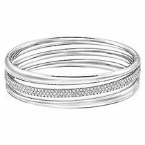 Swarovski Exact Bangle rhodium plated