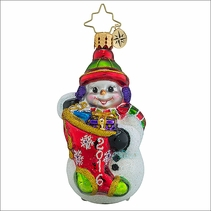 (SOLD OUT)  A Year to Give Gem   Radko Christmas Ornament