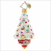 (SOLD OUT)  Adorned Frosted Delight Radko Little Gem  Christmas Ornament