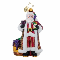 Christopher Radko Cheers to You Red Christmas Ornament
