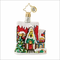 (SOLD OUT) Christmas Auberge Little Gem  Radko Christmas Ornament