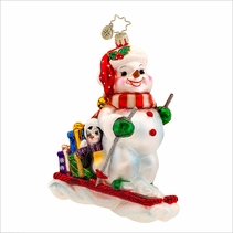Down Hill Delivery  Radko Christmas Ornament