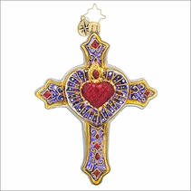 Christopher Radko Faith, Hope, & Love Christmas Ornament