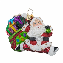 Christopher Radko Jolly Bounty Nick Christmas Ornament