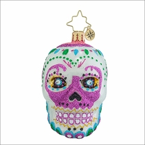 (SOLD OUT)La Calavera White Gem  Radko Christmas Ornament