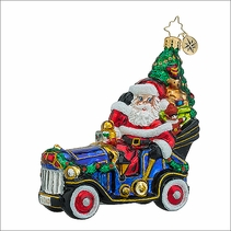 Christopher Radko Merry Motoring Christmas Ornament