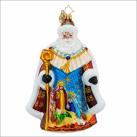 (SOLD OUT) Radko Oh Holy Night Nick Christmas Ornament
