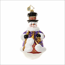 Christopher Radko Regal Frost  Christmas Ornament