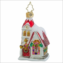 Christopher Radko Ruby Chapel Gem Christmas Ornament