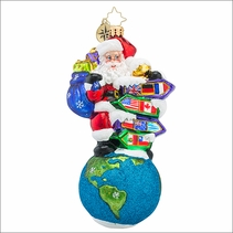 (SOLD OUT)  Santa�s Big Adventure Radko Christmas Ornament