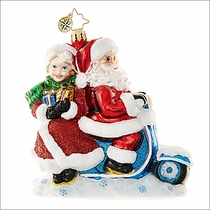 Christopher Radko Scooter for Two Christmas Ornament