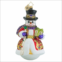 Christopher Radko Sir Scarlet Snow Christmas Ornament