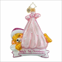 Christopher Radko Special Delivery Girl Christmas Ornament