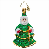 (SOLD OUT) Spruced Up Santa Gem Radko Christmas Ornament