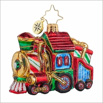(SOLD OUT)  Sweet Chuggin Along Gem Radko Christmas Ornament