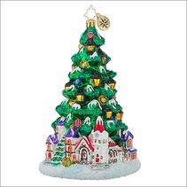 Christopher Radko Tannenbaum Glow Christmas Ornament