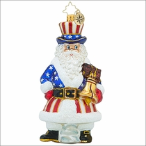 Christopher Radko Tis of Thee Christmas Ornament