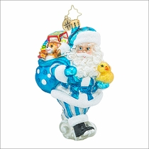 Christopher Radko Toyland Deliveries Boy Christmas Ornament